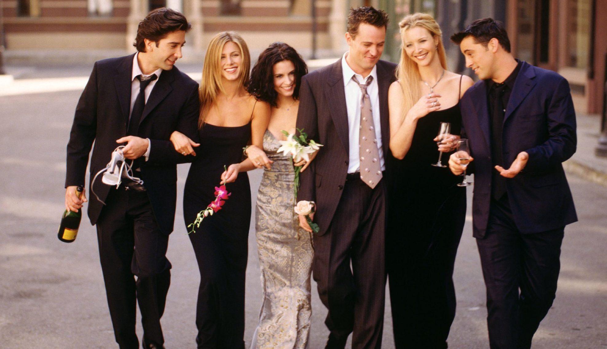 Friends cast including David Schwimmer