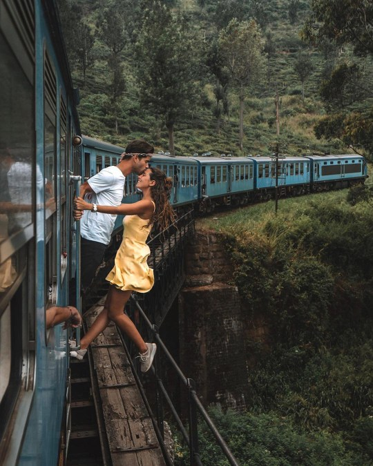 Another Instagram couple slammed for hanging out of moving