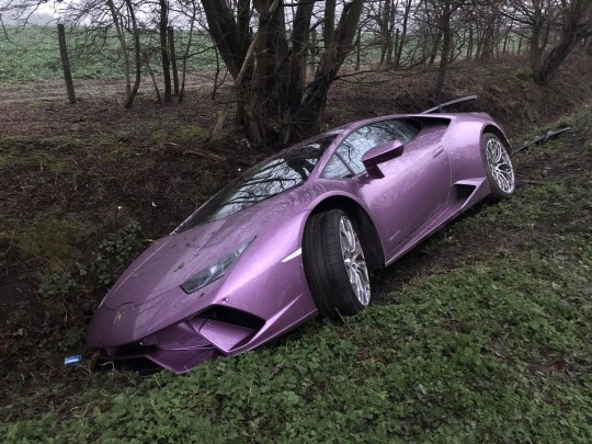 Hunt For Owner Of 270 000 Lamborghini Found Dumped In Ditch Metro