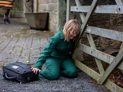 Emmerdale spoilers: Terrified Rhona Goskirk collapses in agony tonight