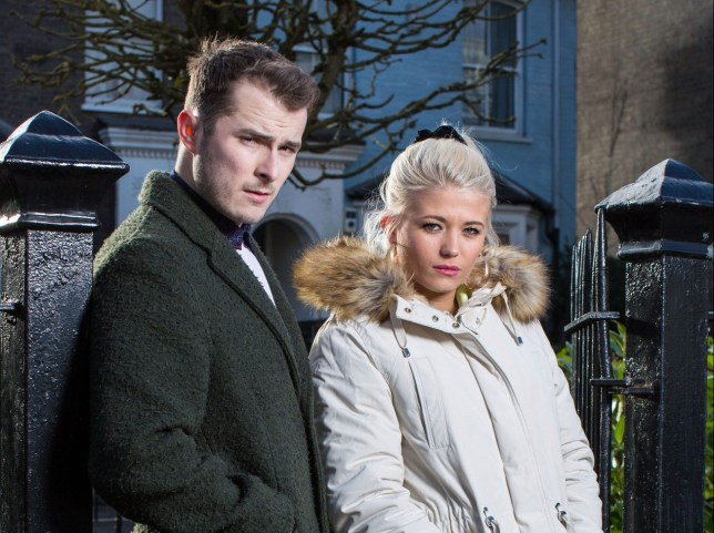Ben Mitchell (Max Bowden) and Lola Pearce (Danielle Harold) in EastEnders