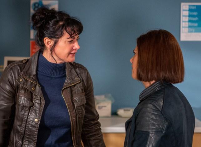 Moira (Natalie J Robb) turns on Victoria (Isobel Hodgins) over Matty (Ash Palmisciano)