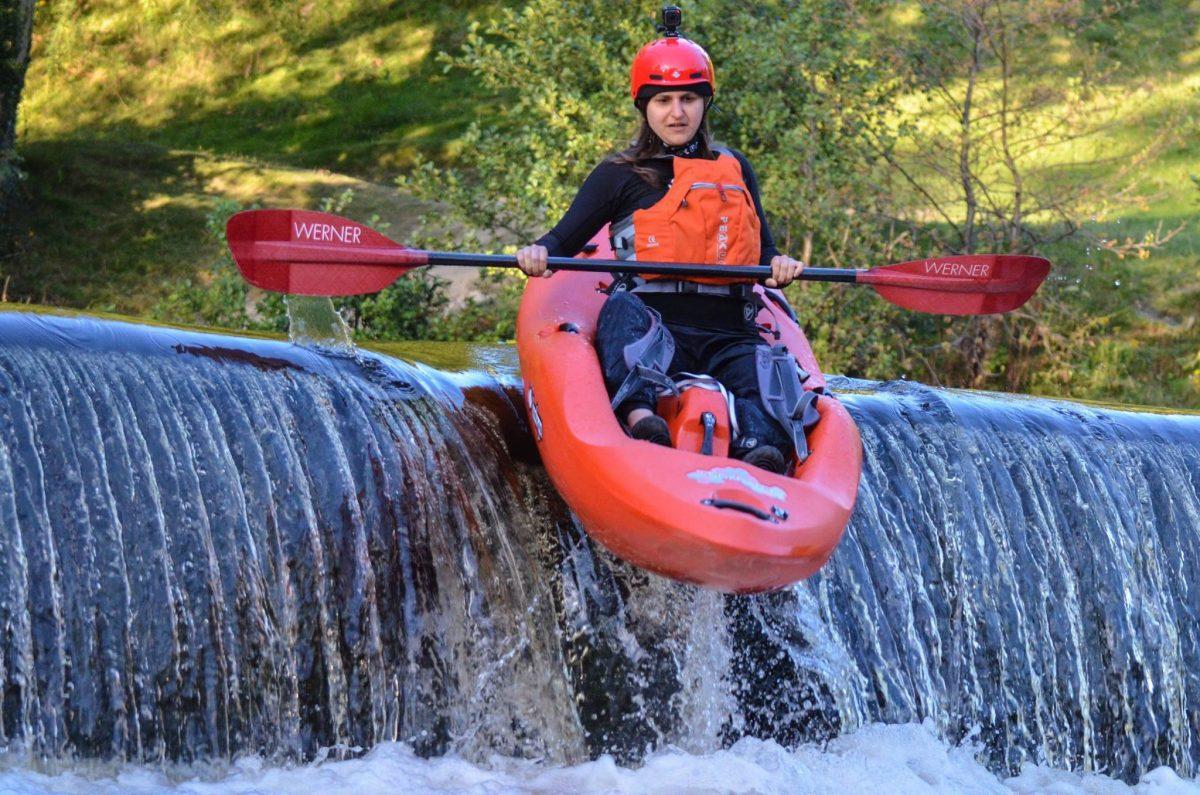Michelle Mudhar kayaking