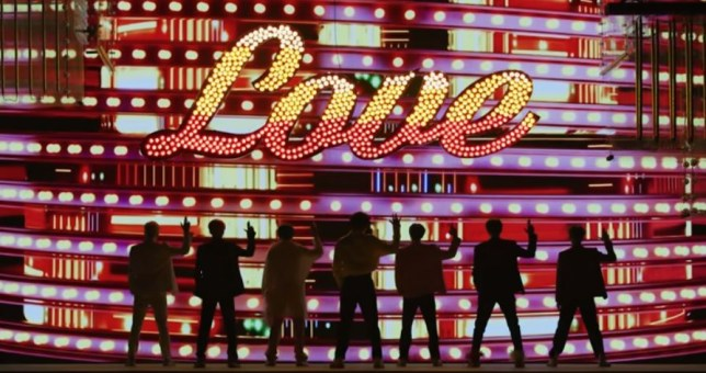 BTS in Boy With Luv video