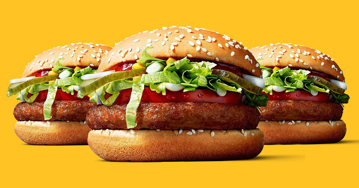 the new McDonald's vegan burger, available in Germany from this week