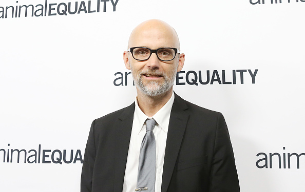 Singer Moby attends an Animal Equality event