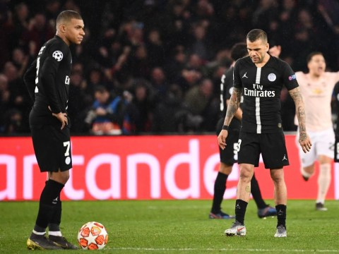 Dani Alves slams PSG team-mates for defeat to Manchester United