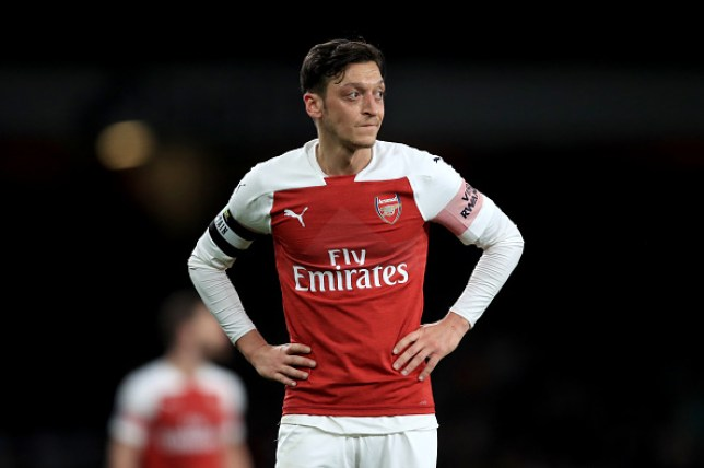 Mesut Ozil was named as one of Unai Emery's five Arsenal captains at the start of the season