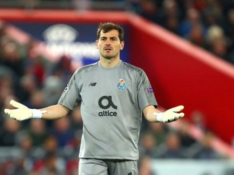Iker Casillas digs out Mohamed Salah after Liverpool beat Porto in Champions League