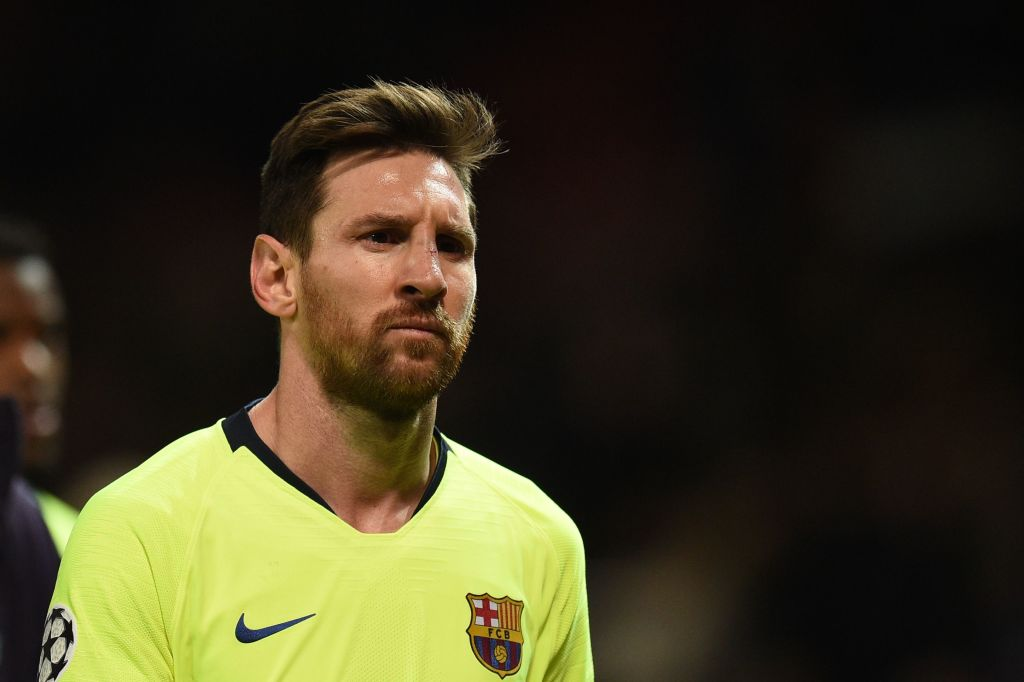 Lionel Messi suffered severe bruising in clash with Manchester United's Chris Smalling