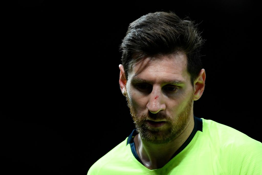 Lionel Messi's nasal scans come back clear after injury vs Manchester United