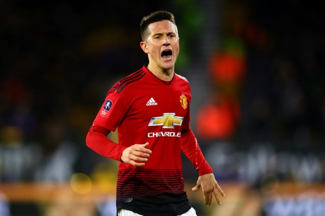 Ander Herrera played no part in Manchester United's defeat to Barcelona