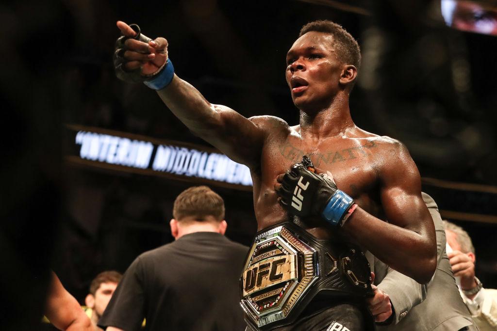 Israel Adesanya is now the interim middleweight champion