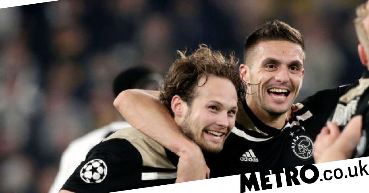 Dusan Tadic Leads Ajax's Celebrations Following Their