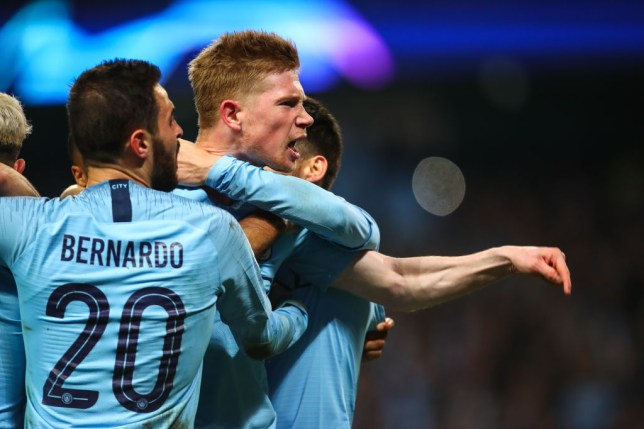 Kevin De Bruyne yells out during Manchester City's Champions League exit to Spurs