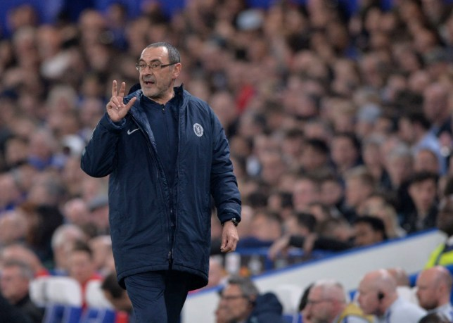 Sarri was not happy with Chelsea's performance in the second half against Slavia Prague