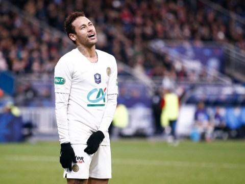 Watch Neymar shove fan as PSG suffer penalty shootout loss to Rennes in Coupe de France final