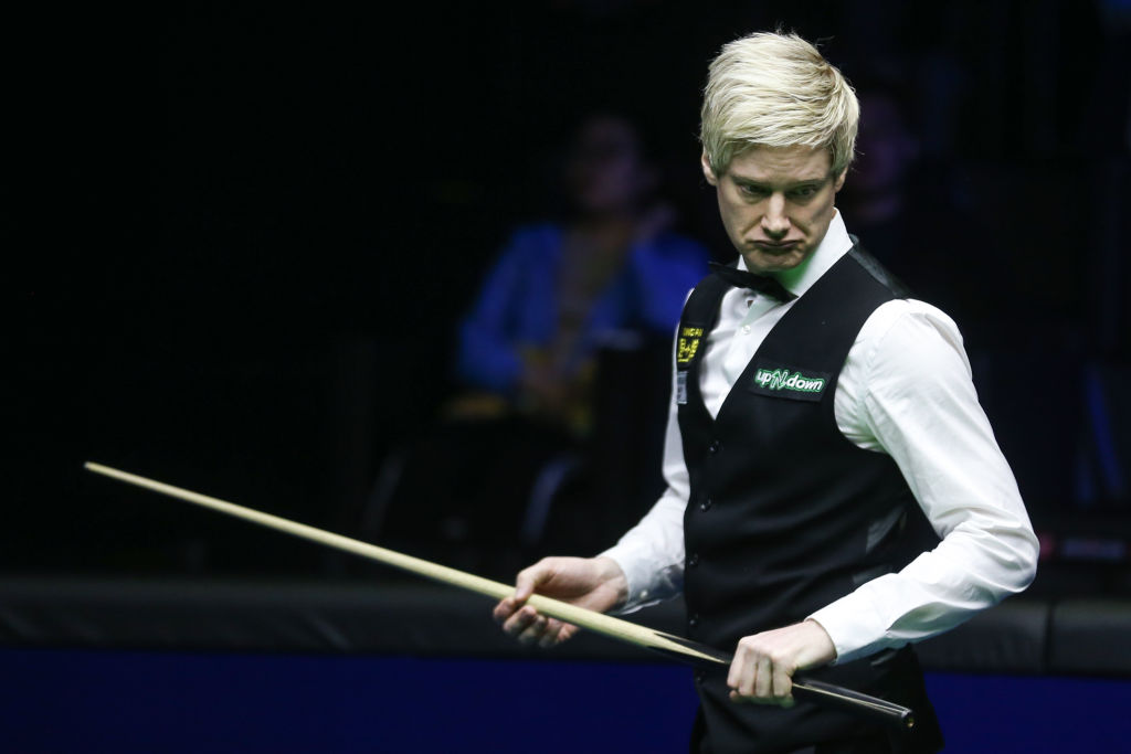 Neil Robertson on the verge of historic whitewash at Snooker World Championship
