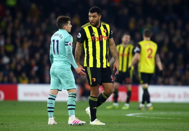 Watford captain Troy Deeney was furious with Lucas Torreira