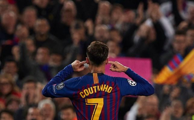 0642ecaf29b Barcelona stars praise Philippe Coutinho for showing 'balls' with goal  celebration against Man Utd