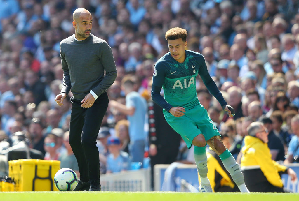 Dele Alli's attempted nutmeg on Pep Guardiola backfires during Spurs vs Man City