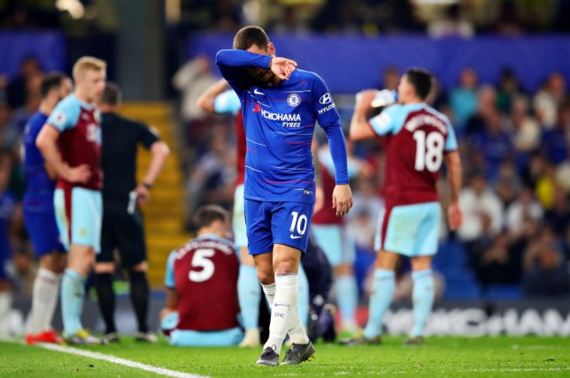 Eden Hazard was unable to inspire Chelsea to a win over Burnley on Monday