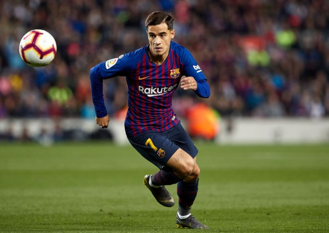 Philippe Coutinho chases the ball during a game