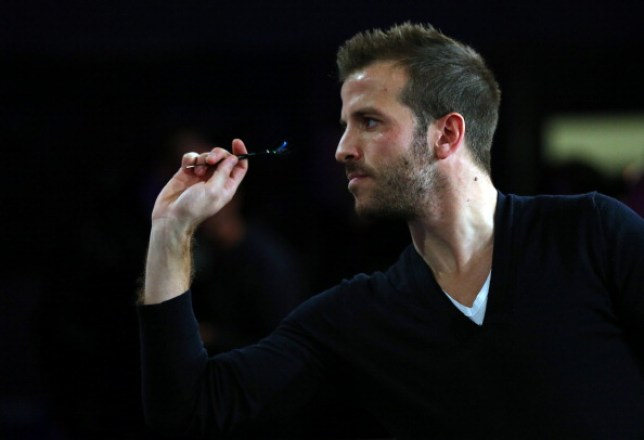 Rafael van der Vaart playing darts