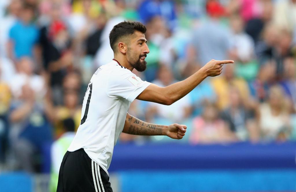 Demirbay celebrates scoring for Germany