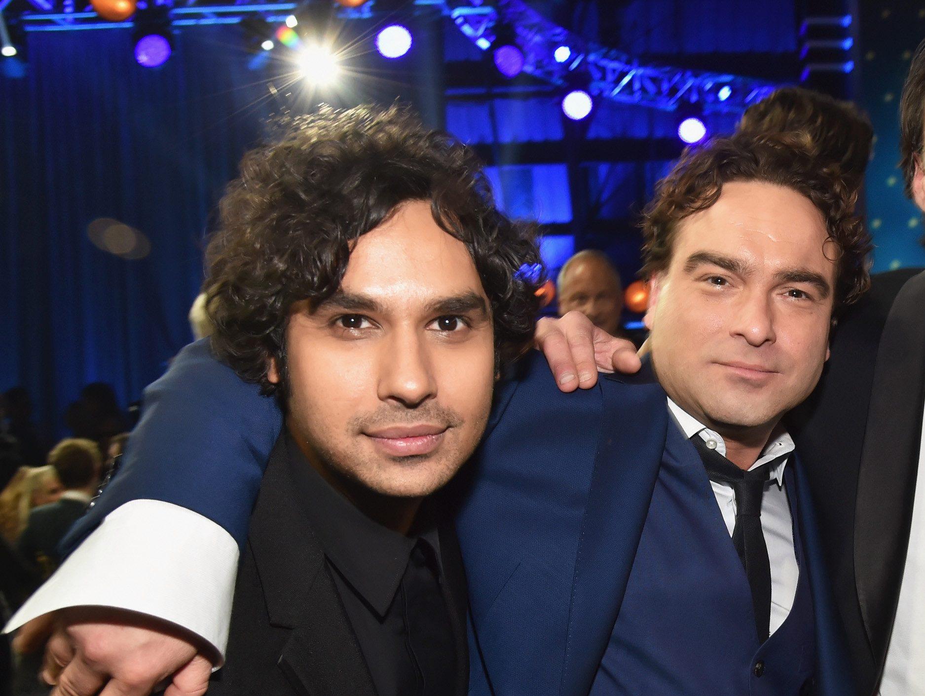 Kunal Nayyar and Johnny Galecki