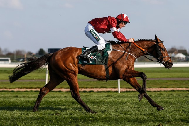 Davy Russell riding Tiger Roll clear the last to win The Randox Health Grand National Handicap Steeple Chase at Aintree racecourse on April 14, 2018 in Liverpool, England