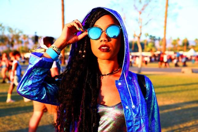 A festival goer at Coachella 2018