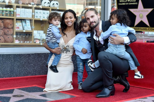 Avengers Zoe Saldana Raising Three Sons In Gender Neutral