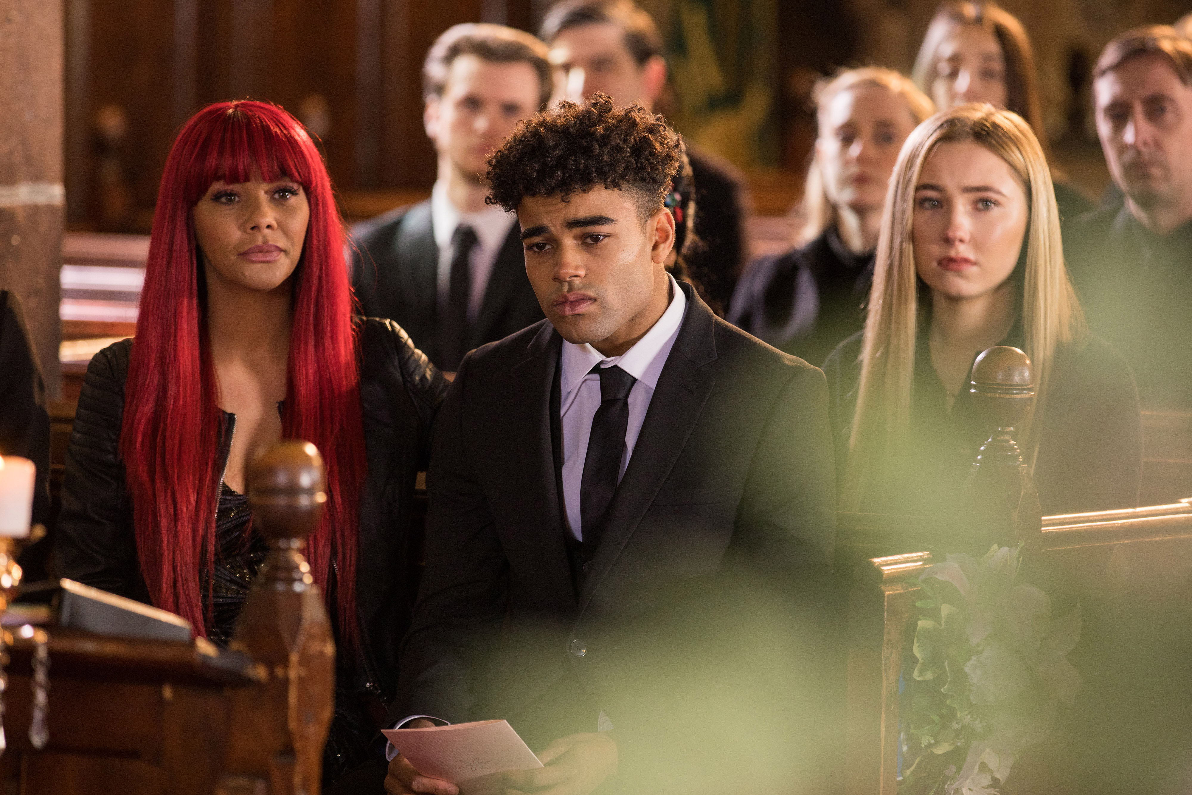 Romeo grieves for Lily in Hollyoaks