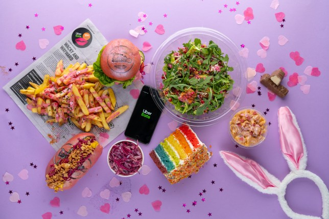 The menu is a limited edition pink wednesday offer
