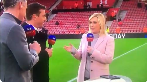 Kelly Cates reveals truth over bizarre Jamie Carragher and Gary Neville incident