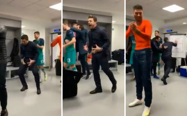 Mauricio Pochettino Goes Full Diego Simeone In Incredible Dressing Room Celebration Metro News