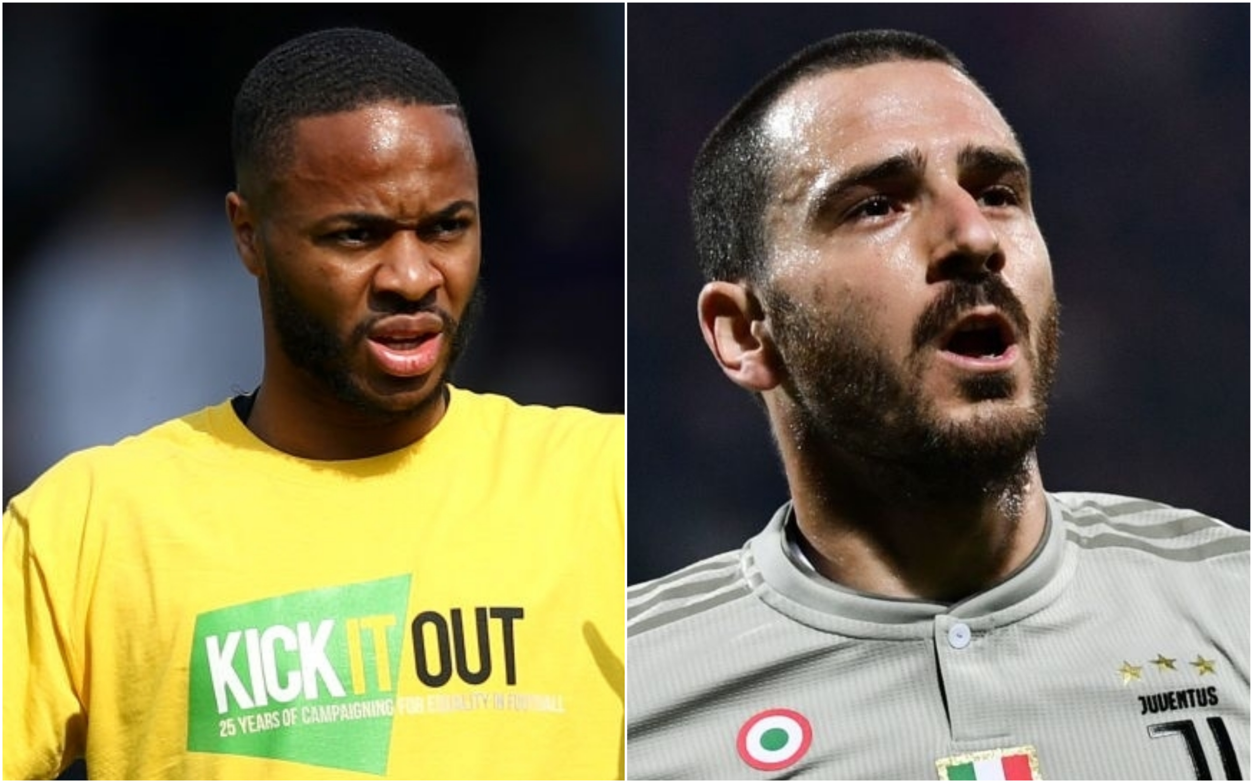 Raheem Sterling hits out at Leonardo Bonucci for blaming Moise Kean after Juventus striker suffers racist abuse