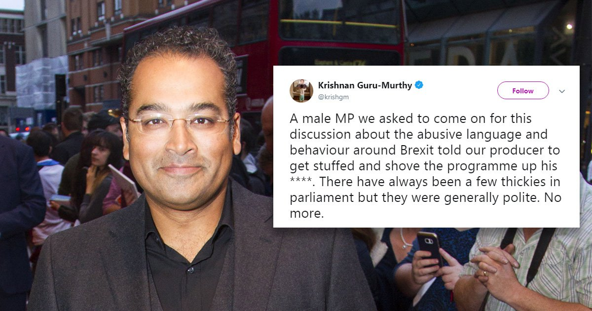 MP snubs talk on abuse by telling TV producer to 'shove programme up his a**e'