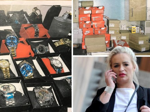 Inside home woman set up as shop to sell £22,000 in knock-off luxury goods