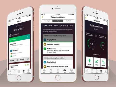 Etihad Airways is launching an app so you never have to feel jet lag again