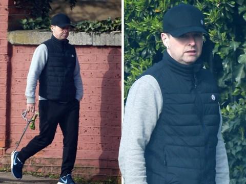 Declan Donnelly keeps head down on dog walk after revealing Ant McPartlin arrest 'destabilised' him