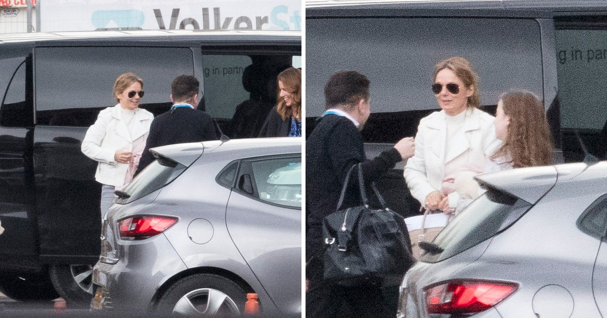 Geri Horner heads out with daughter Bluebell amid claims she 'won't be in same room as Mel B' over sex rumours
