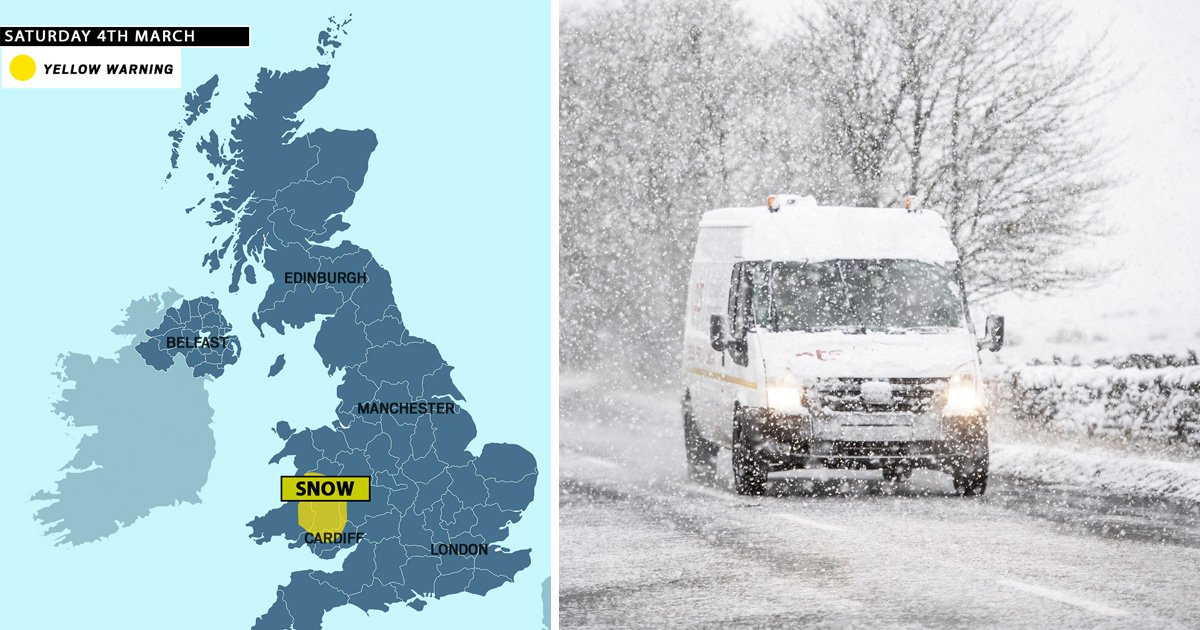 Snow and ice hits as Met Office issues weather warning