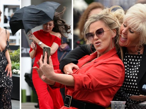 No wind, rain or snow can stop the ladies having a classy one at Aintree