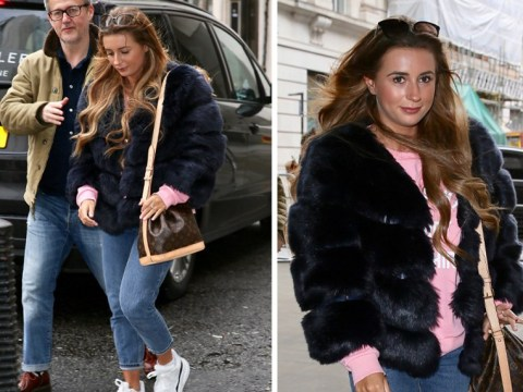 Dani Dyer keeps her head down as she's pictured for first time since Jack Fincham split
