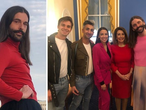 Queer Eye boys take DC as they network with Nancy Pelosi and Alexandria Ocasio-Cortez