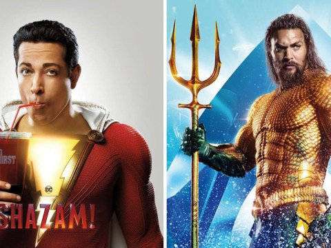 Shazam mocks Aquaman and hints that a space worm may be his next villain in post-credits scenes