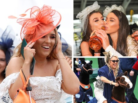 Aintree lasses struggle to keep their hats on for Grand National Ladies Day