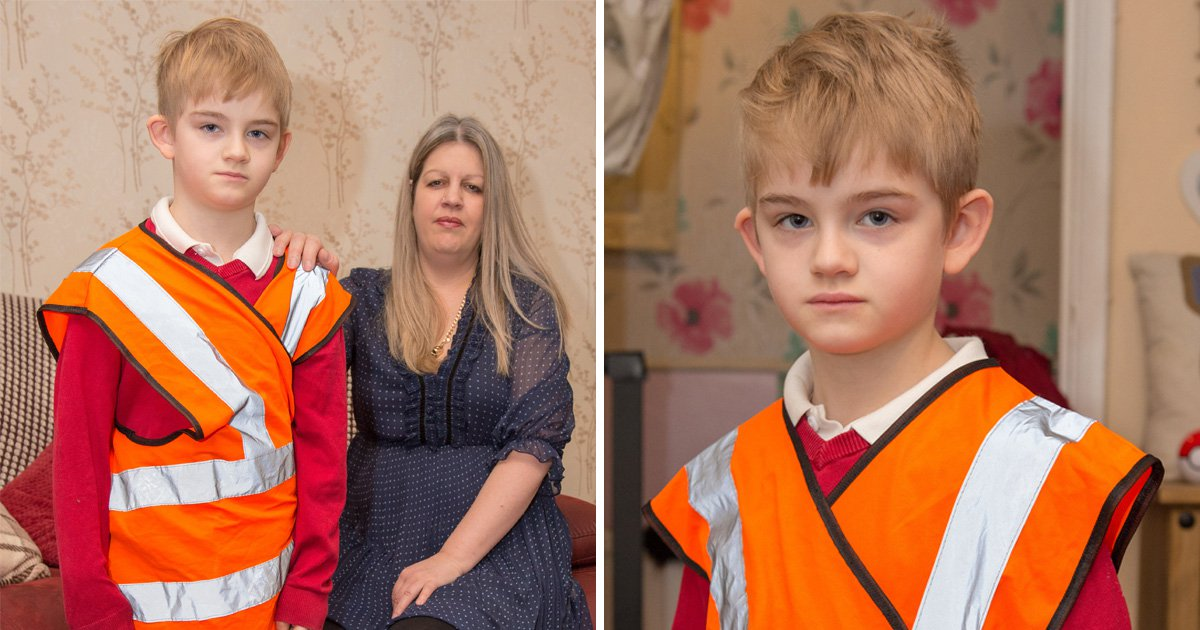 Mum of autistic boy 'made to wear neon bib' takes legal action against school
